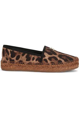 Dolce & Gabbana Alpargatas con motivo de leopardo