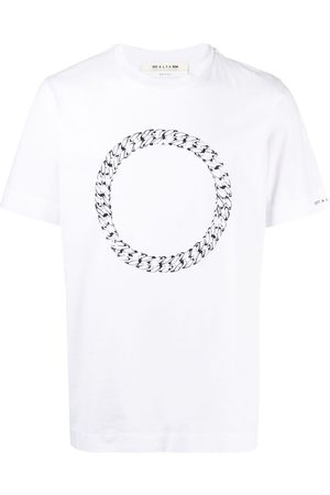1017 ALYX 9SM Hombre Playeras - Faceted-chain print T-shirt