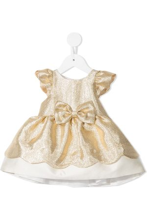 HUCKLEBONES LONDON Vestidos - Metallic-tone bow-detail dress