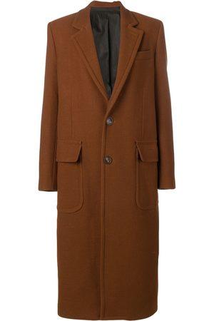 Ami Mujer Abrigos - Abrigo largo con bolsillos de parche