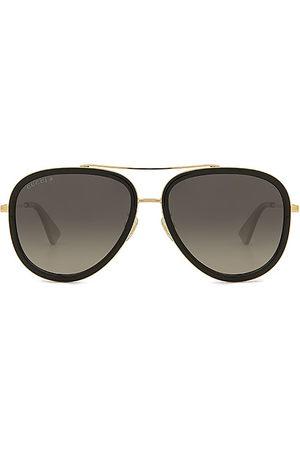 Gucci Gafas de sol aviator en color negro talla all en - Black. Talla all.