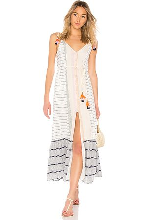 Tularosa Vestido midi villa en color blanco talla L en - White. Talla L (también en M, S, XS, XXS).
