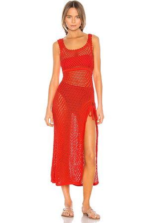 Camila Coelho Vestido ganchillo athena en color rojo talla M en - Red. Talla M (también en S, XS, XXS).