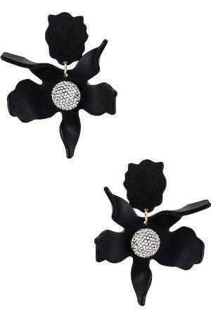 Lele Sadoughi Pendientes crystal lily en color negro talla all en - Black. Talla all.