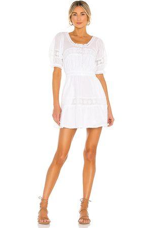 LOVESHACKFANCY Vestido britta en color blanco talla L en - White. Talla L (también en M, S, XS).