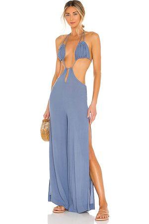 Tularosa Sofian jumpsuit en color talla L en - Blue. Talla L (también en XL).