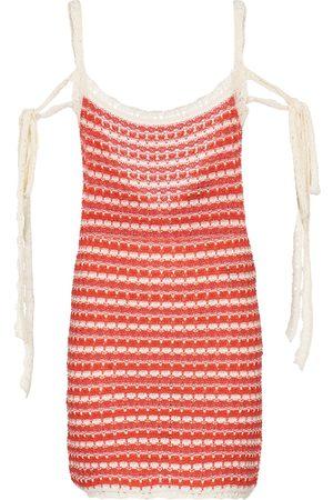 Alanui Mujer De playa - Desert Summer striped cotton minidress