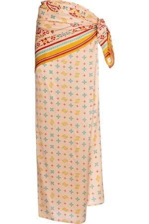 Y / PROJECT Mujer Estampadas - Printed silk satin sarong