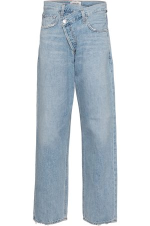 AGOLDE Criss-Cross high-rise straight jeans