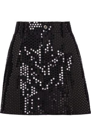 JUNYA WATANABE Mujer Minifaldas - Sequined wool-blend miniskirt
