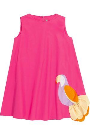 Il gufo Appliquéd stretch-cotton dress
