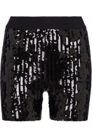 JUNYA WATANABE Sequined high-rise biker shorts