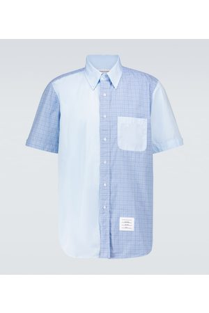 Thom Browne Fun-Mix short-sleeved checked shirt