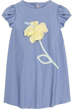 Il gufo Mujer Ajustados y entubados - Appliquéd stretch-cotton dress