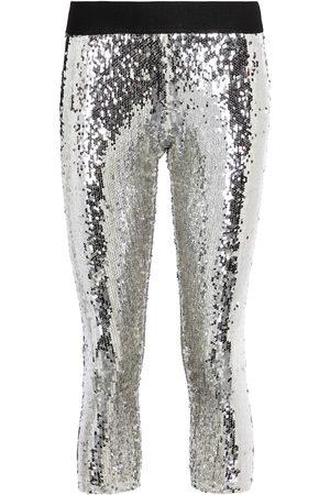 JUNYA WATANABE Mujer Leggings y treggings - Sequined mid-rise leggings