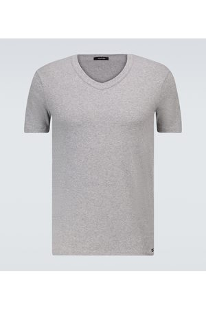 Tom Ford Stretch-cotton V-neck T-shirt