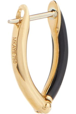 Melissa Kaye Cristina 18kt gold single hoop earring