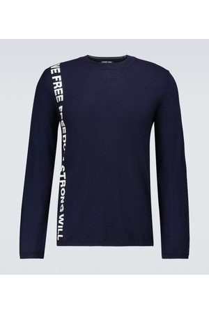 COMME DES GARÇONS HOMME DEUX Hombre Suéteres - Freedom knitted wool sweater