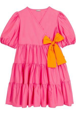 Il gufo Tiered stretch-cotton wrap dress