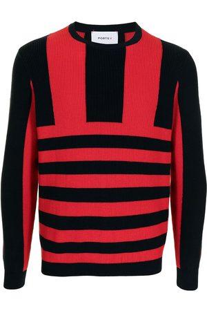 Ports V Suéteres - Suéter tejido con rayas estampadas