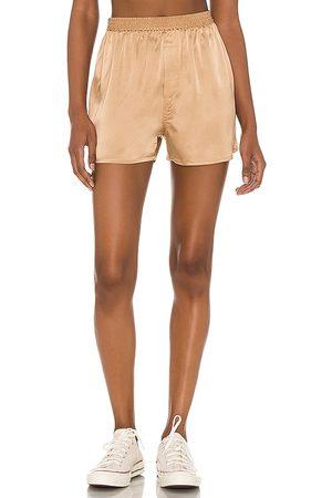 Frankies Bikinis Fifi silk boxer en color oro metálico talla L en - Metallic Gold. Talla L (también en XS, S, M).