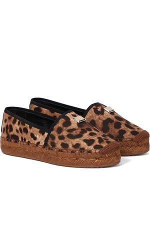 Dolce & Gabbana Leopard-print platform espadrilles