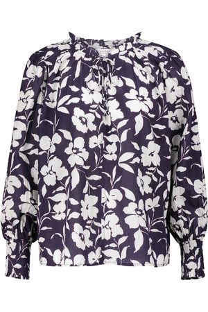 Velvet Anissa floral cotton blouse