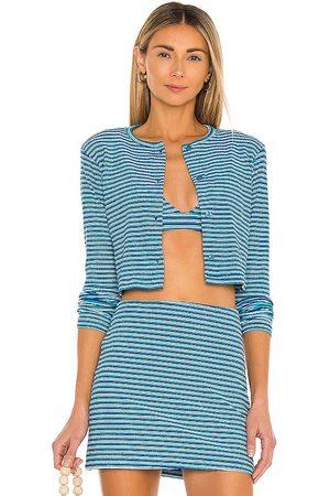 Frankies Bikinis Cárdigan cherie en color azul talla L en - Blue. Talla L (también en M, S, XS).
