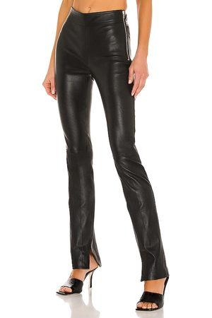 Helmut Lang Pantalón slit en color negro talla 4 en - Black. Talla 4 (también en 6, 8).