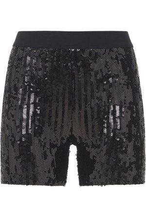 JUNYA WATANABE Mujer Pantalones y Leggings - Shorts De Nylon Con Lentejuelas