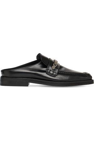 MATTIA CAPEZZANI Zapatos Mules De Piel Con Cadena
