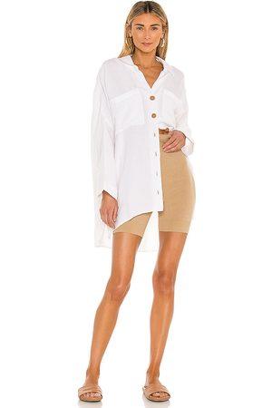 Show Me Your Mumu Johns button down shirt en color blanco talla L en - White. Talla L (también en S, XS, M).