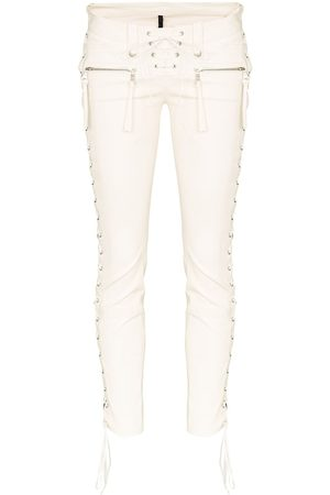 Unravel Project Mujer Slim y skinny - Pantalones skinny con cordones