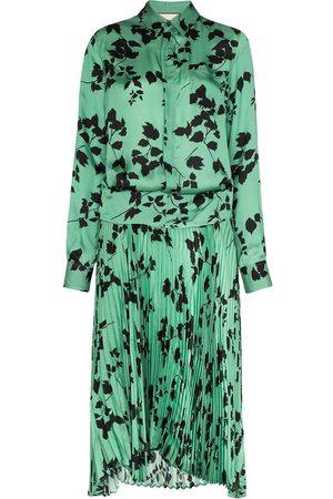 Plan C Mujer Camiseros - Vestido camisero con estampado de hojas