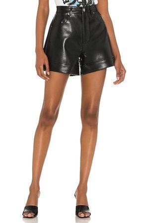 AGOLDE Recycled leather angled hem short en color negro talla 23 en - Black. Talla 23 (también en 24, 25, 26, 27, 28, 29, 30, 31, 32, 33