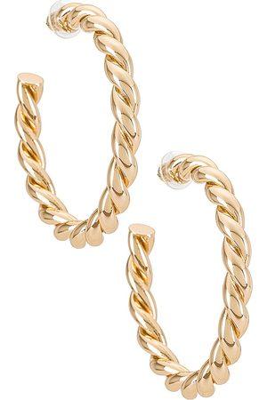 Dannijo Pendientes naomi en color oro metálico talla all en - Metallic Gold. Talla all.