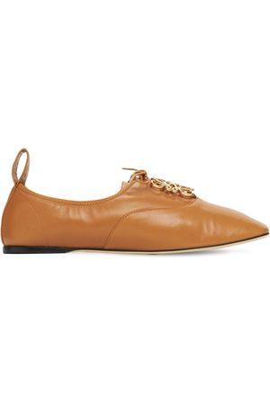 Loewe Zapatos Derby De Piel Suave Con Cordones 10mm