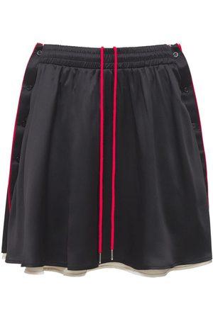 Y / PROJECT Mujer Faldas - Falda Reversible De Satén De Seda Con Botones