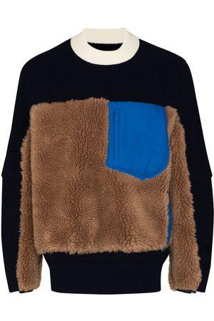 SACAI Suéter con efecto de lana