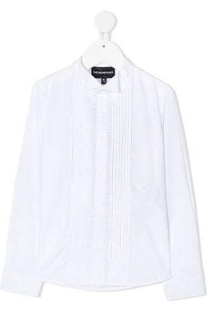 Emporio Armani Niño Camisas - Camisa con pechera plisada