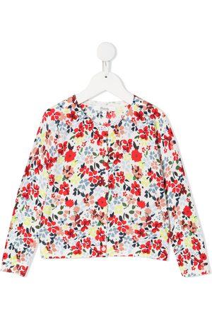 BONPOINT Cárdigan con estampado floral y botones
