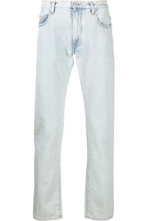OFF-WHITE Jeans slim con rayas diagonales