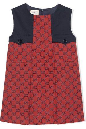 Gucci Vestido a paneles con motivo GG