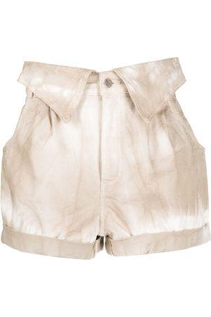 Stella McCartney Shorts de mezclilla con estampado tie-dye