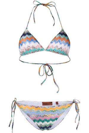 Missoni Bikini con estampado de rayas