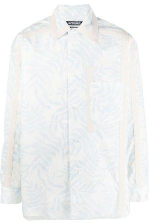 Jacquemus Camisa con estampado de hojas