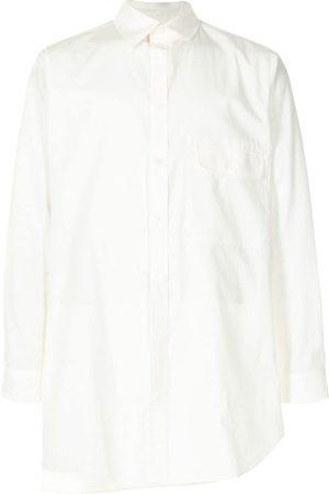 YOHJI YAMAMOTO Camisa asimétrica con bolsillos con solapa
