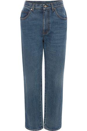Alexander McQueen Jeans rectos con tiro alto