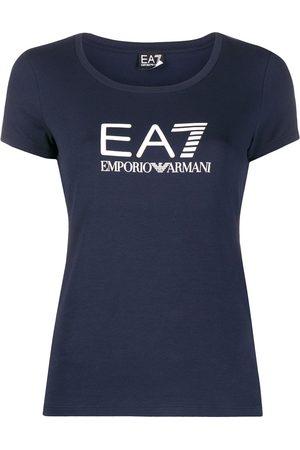 EA7 Playera con cuello redondo