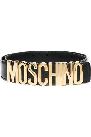 Moschino Mujer Cinturones - Cinturón con placa del logo